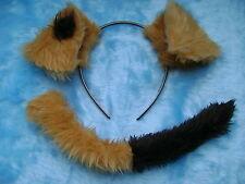 Spot il cane orecchie e coda set Gold Brown Dress Up Finta Pelliccia INSTANT FANCY DRESS