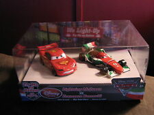 DISNEY CARS DISNEY STORE 2-PACK LIGHT UPS  MCQUEEN & FRANCESCO BERNOULLI