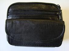 Bolsa de cinturón de Cuero Suave Ideal para viajes de Teléfono Cámara