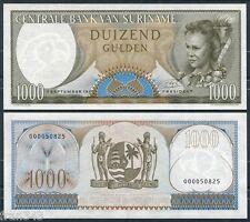 SURINAM SURINAME 1000 Gulden 1963 PICK 124 SC / UNC