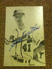 Eddie Matthews Autographed Postcard - JSA Certified