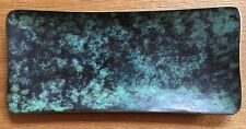 Schreibtisch Ablage Schale Stiftschale Messing patiniert Grün 60er Vintage