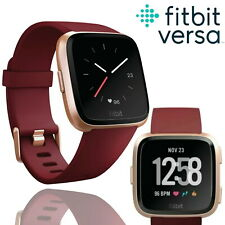Fitbit Versa Special Edition Fitness Tracker Activity Band Ruby Red Smartwatch