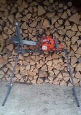 Circular log saw bench cutting logs with Chainsaw Log saw horse Universal -Video