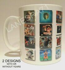David Bowie Albums 1967 - 2016 White Coffee Mug. ** Choose from 2 designs **