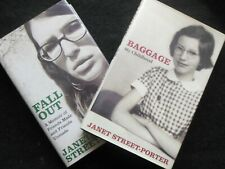 JANET STREET PORTER; Baggage: My Childhood/Fall Out (2004/6-1st Ed) Biographies