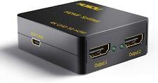 Musou Splitter HDMI 1 Input 2 Output Adattatore 3d 4k Full HD 2160p