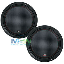 "(2) MTX 7512-22 12"" 75-Series DUAL 2-OHM CAR AUDIO STEREO SUBS SUBWOOFERS *PAIR*"