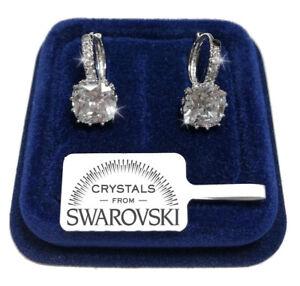 Punto Luce anello Orecchini donna pl. oro bianco 18K con Cristalli Swarovski 01