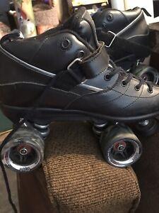 Black Rock GT-50  Quad Roller Speed Skates by Sure Grip men size 9 pre-owned