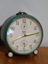 """Decorativo SVEGLIA MECCANICA """"Diehl"""" stupendo orologio da tavolo orologio-allarme Clock - 50er - 60er"""