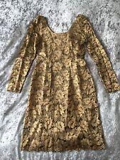 Next Gold Lace Dress, size 12