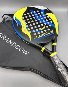 New GRANDCOW Paddle Tennis Racket Carbon Fiber Power Lite Paddleball Racquets