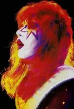 Kiss 8x10 Photo Ace Frehley The Spaceman Colorful Shot