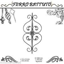 PANNELLI PALETTI FOGLIATI FERRO BATTUTO X SCALA RINGHIERE CANCELLO H100cm L 41cm