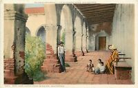 WB Postcard CA G130 San Juan Capistrano Mission Founded 1776 Padre Serra Amurrio