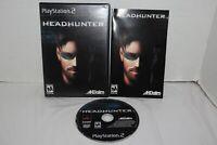 Headhunter (Sony PlayStation 2, 2002) PS2 Complete CIB Black Label