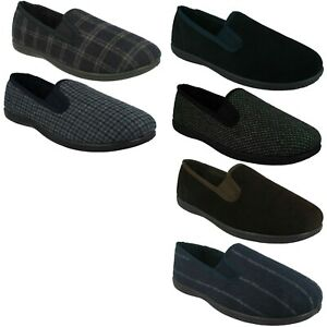 KING TWIN MENS CLARKS WARM INDOOR HOUSE WINTER TEXTILE SLIP ON SLIPPERS SHOES