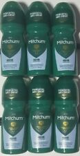 6 Men Mitchum 48HR Protection Unscented Invisible Roll-On Deodorant 3.4oz