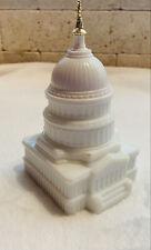 "Vintage Avon Collectible ""The Capitol"" Milk Glass -Empty"
