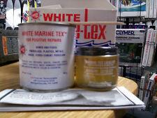 White Marine-Tex Repair Kit, Structural Epoxy, Putty Non-Rusting Non-Corrosive