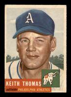 1953 Topps Set Break # 129 Keith Thomas EX *OBGcards*
