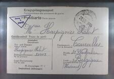 Camp Stalag IVC Wistritz 1944 POW Prisoner Belgium Kriegsgefangenenpost K5