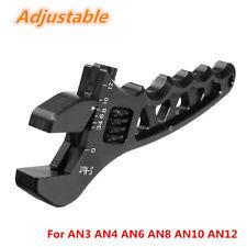 Black AN Adjustable Aluminum Wrench Fitting Tools For AN3 AN4 AN6 AN8 AN10 AN12