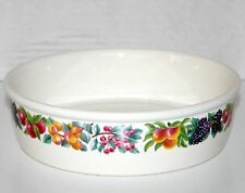 Wedgwood Hereford Fruit Pattern oven to table bowl made in England