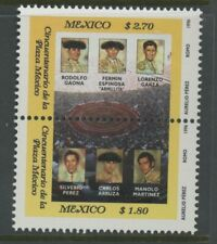 MEXICO, MINT, #1953a, OG NH, PAIR, BULLFIGHTERS, CLEAN, SOUND & CENTERED