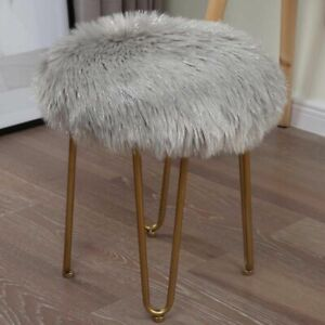Long Fur Seat Cushion Home Office Soft Chair Cover Round Comfortable Floor Pad