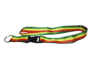"32"" Rasta Rastafarian Lanyard With Detachable Key Ring"