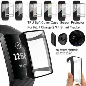TPU Silicone Soft ShockProof Case Cover For Fitbit Charge 4/3/2 Screen Protector