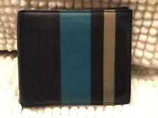 Coach Bleecker Debossed Stripe Slim Billfold Wallet