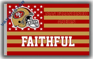 San Francisco 49ers FAITHFUL football Memorable S&S flag 90x150cm 3x5ft banner
