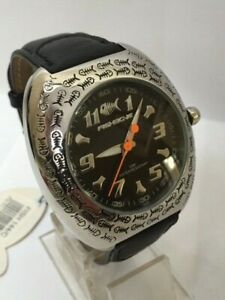 Brand New Fishbone Watch With Orange Hand and Fishbone Logo Bezel Fish 144/C