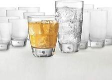 Luna 16-Piece Glassware Set 8 11.5 Oz Old Fashioned, 8 15 Oz Highball Glass