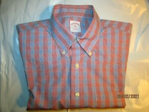 Beautiful Brooks Brothers XL L/S Lt. Pink, Blue & White Fine Striped Dress Shirt