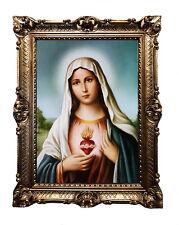 Gemälde Jesus Maria Ikonen Heiligenbild mit Rahmen 56x46 cm Religiöse Bilder K16