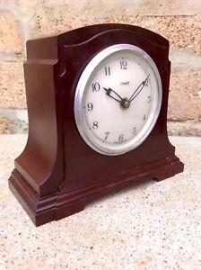 Antique Vintage ART DECO Bakelite FERRANTI Electric Mantel Clock,Modernist,Old