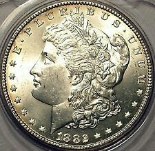 1882 Morgan Dollar Uncirculated Philadelphia Liberty Head Dollar 90% Silver Coin