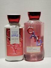 Bath & and Body Works WINTER CANDY APPLE Shower Gel & Body Lotion, 2 CT