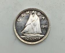 1940 George VI 10 Cents Virtual Mint State Grade PL Reverse Cameo Interesting