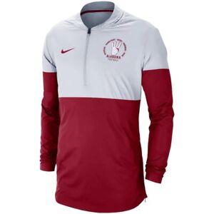 Nike Men's Alabama Football Rivalry Half Zip Pullover Jacket Large L Roll Tide