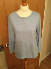 Ladies M&S Collection Long Sleeve Cotton Top, Chambray U.K. 14 BNWTS 7059