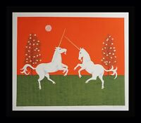 Mark Sabin The Unicorn Hand Signed & Numbered Art  Screenprint