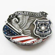 The Police Officer An American Hero Metal Belt Buckle