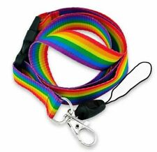 Pride Rainbow Lanyard LGBT Rainbow Unisex Gay Pride ID Badge Lesbian Bisexual