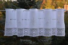 Scheibengardine Häkelkante Spitze Bistrogardine Panneaux Landhaus  30/150 Weiß