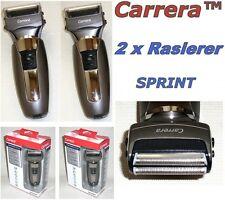 2 x Carrera SPRINT Rasierer Akku-Netz Nass-Trocken Abwaschbar 2 Stk. NEU 9113021